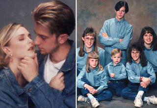 It seems you can't take a family photo without denim.
