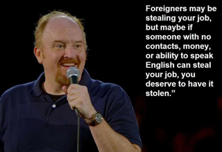 A round up of funny quotes to make you laugh by Louis C.K.