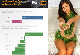Deep, marijuana-related insights based on research conducted in the labs of PornHub.