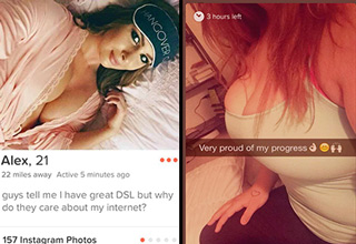 Strange, awkward, and hilarious people on Tinder who clearly stand out.
