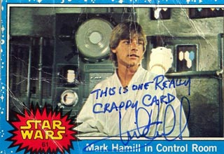 Mark Hamill, who played Luke Skywalker in the original Star Wars trilogy, apparently would often leave snarky and hilarious quotes for fans on their Star Wars Cards.