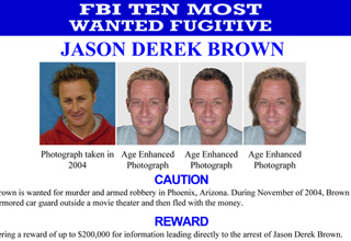 The 2015 top ten wanted fugitives by the FBI.