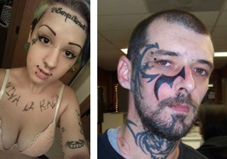 These folks have a cringeworthy taste in fashion and tattoos...