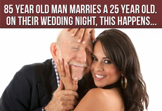 An old man and is young new wife have an unusual night...