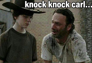 Enjoy a collection of some of the best <a href=https://www.ebaumsworld.com/pictures/32-next-level-dad-jokes/84740805/>dad jokes</a> made by Rick from The Walking Dead.