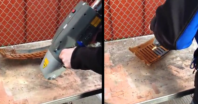 This Laser Rust Remover Gun Is Insanely Satisfying Wow