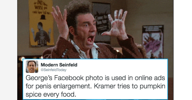 Twitter account @SeinfieldToday answers the question of what if Seinfeld were still on TV?
