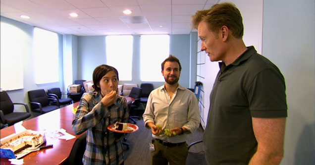 Conan Catches His Employees Eating Cake On Hidden Camera - Video  Ebaums World-3763