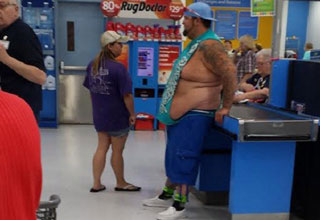 It's amazing what unusual species you can find in the jungles of Walmart.