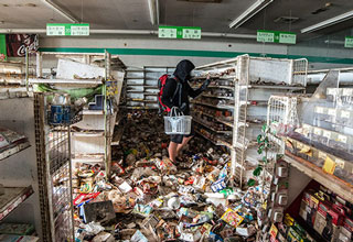 The photos, reminiscent of a post-apocalyptic wasteland, are haunting.