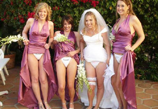 When the big day rolls around, make sure someone takes at least one normal wedding photo.