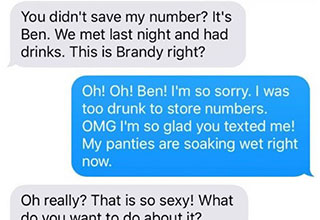 I'm not sure who the better troll is, Brandy for giving guy's his number or him for going along with it.