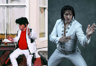 "They say there was a time when everyone wanted to be Elvis. These guys took ""everyone"" too far."