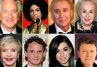 Some of the many famous figures we lost this year.