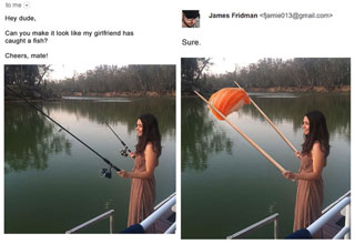 James Fridman is the ultimate photoshop troll.