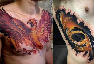 Highly detailed tattoos done by very skilled artists.