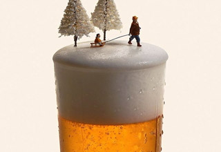 These images from Miniature Calendar show the brilliance and fun of the artist that created them.