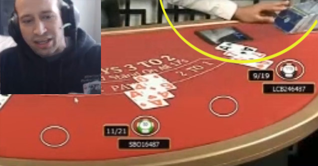 online casino caught cheating during live stream