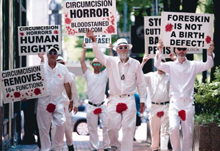 Welcome to the eBaum's World Photoshop Contest #107 - Circumcision Protesters