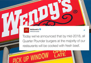 After announcing that McDonald's will begin to serve fresh beef at some of their stores, Wendy's couldn't let the opportunity pass.