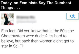 This woman was trying to make a point about women having roles in sci-fi films and ended up getting schooled herself.