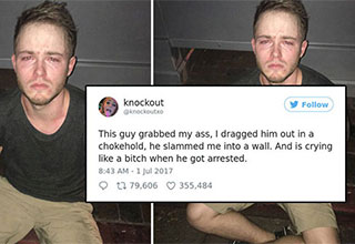 This drunk guy thought he could do whatever he wanted until he met this bartender.