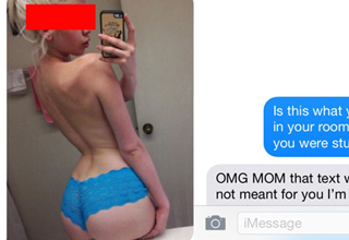 Unfortunate texts sent to the wrong person.