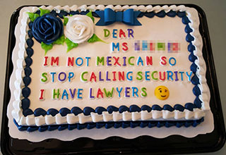 If you're going to be passive aggressive, putting that energy into a making a cake is probably the best way to get your point across.