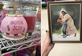 You never know what you'll find at the thrift shop....