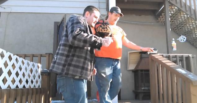 two guys smoke salvia and fall to the ground