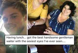 He made the mistake of adding a stranger on Facebook after being her server and got more than just a hefty tip.