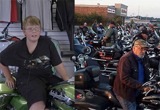 Phil Mick, 11, got a special motorcycle ride and escort for his trip to school Aug. 1 to help boost his confidence.