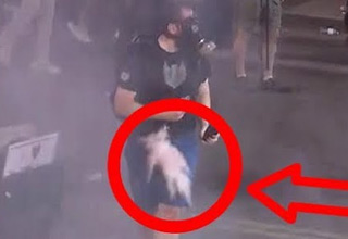 He kicked a tear gas canister back at police, and then paid the price for it!