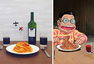 Spot on recreation of meals from Anime movies!