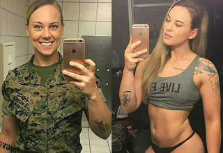 Badass ladies with and without uniform.