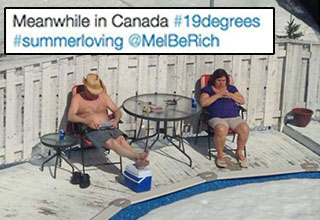 This may seem strange to you, but for Canadians, this is just normal life.