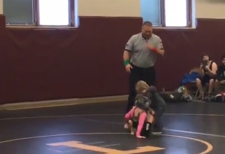 Little Brother Thinks His Sisters Wrestling Match Is Real And Intervenes