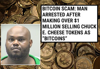 The news broke the other day that someone was pawning off Chuck E. Cheese tokens as Bitcoins, but was it actually true?