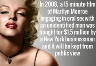 facts about marilyn monroe's sex tape