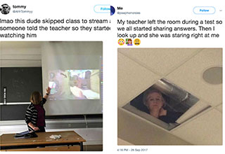 Teachers today seem to have a better a sense of humor.
