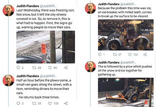 tweets about how hard it is to plow snow in Canada