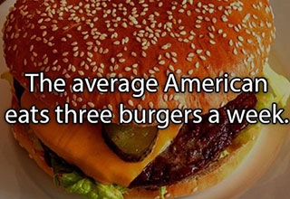 I could use a couple burgers after reading these savory facts.