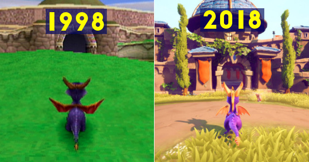 1998 Vs 2018: Spyro The Dragon Amazing Then Vs Now Comparison - Wow Article