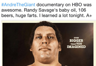 Interesting insight from the 'Andre the Giant' Documentary.