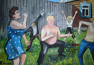 If Donald Trump was from Russia, there is a good chance he'd be just like these paintings suggest.