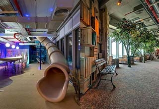 Some really cool spaces in cities, homes and offices. Working in these spaces would make Mondays a heckuvalotta easier.