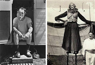 Freak shows and oddities from the vault of history.