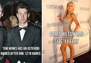 Strange facts about your favorite celebrities.