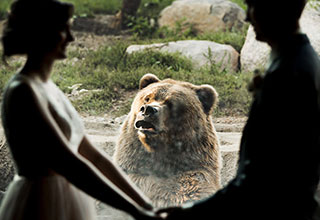 He wanted to say something, but he didn't want to bruin the moment for her.