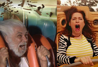 People freaking out on a roller coaster is always a treat.